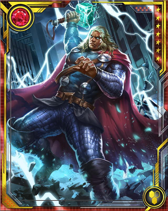 Thor defeated both Angrir and Nul, but was mortally wounded in his battle with Nul. Captain America took him to Asgard to heal, and he returned with new resolve—and a new weapon to fight the Serpent.