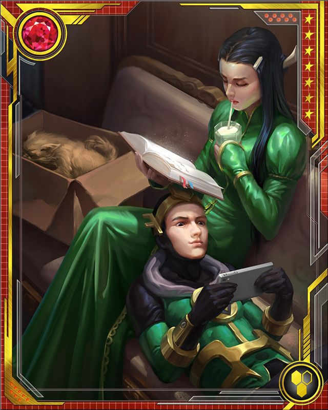 Leah didn't like being sent to serve young Loki, but they soon found a rapport. She resented him, but enjoyed his company at the same time—and the feeling was mutual...