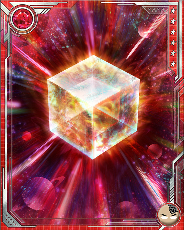 Fuse a U Rare Daken Bruiser (or a U Rare Daken all-alignment) card with this Cosmic Cube to obtain the fused version of the base card. The resulting card has the same stats (including mastery) as a card obtained by fusing two identical versions of the base card.