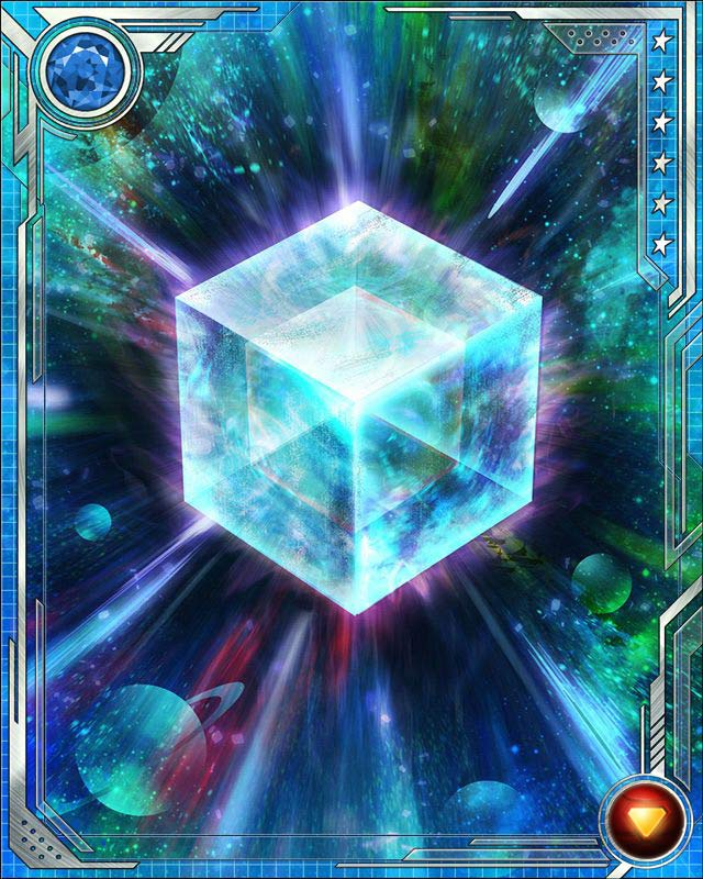 Fuse a U Rare Iron Man tactics (or a U Rare Iron Man all-alignment) card with this Cosmic Cube to obtain the fused version of the base card. The resulting card has the same stats (including mastery) as a card obtained by fusing two identical versions of the base card.