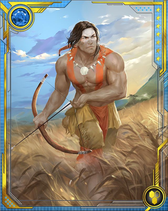 William Talltrees bears the name Red Wolf, after he discovered the legendary warrior's sacred garb. The wolf spirit Owayodata grants Red Wolf superhuman strength and agility, as well as expertise in the use of traditional Native American weapons.