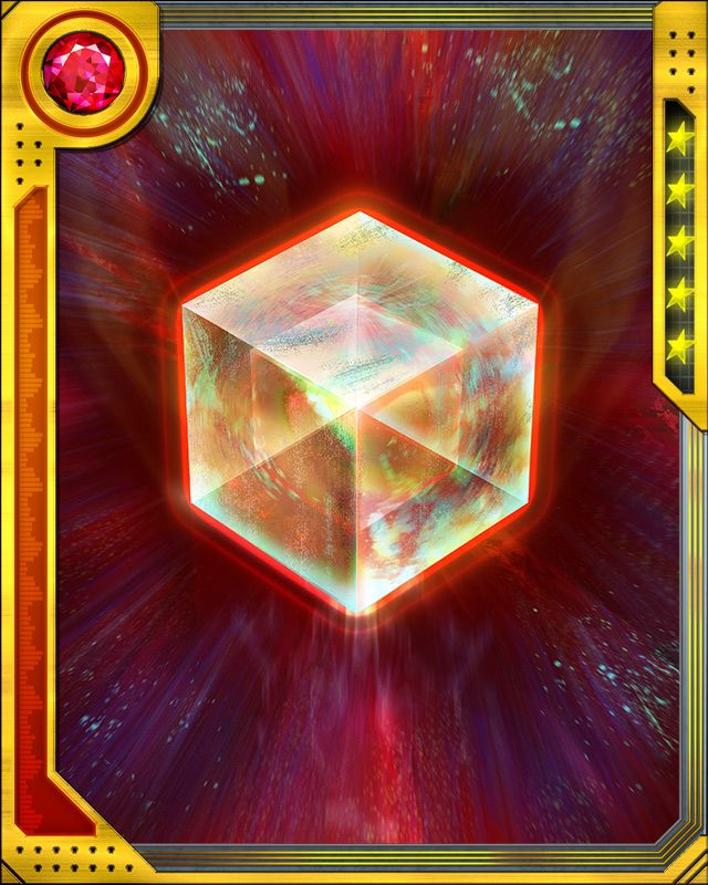 Fuse a SS Rare Bruiser card with this Cosmic Cube to obtain the fused version of the base card. The resulting card has the same stats (including mastery) as a card obtained by fusing two identical versions of the base card.
