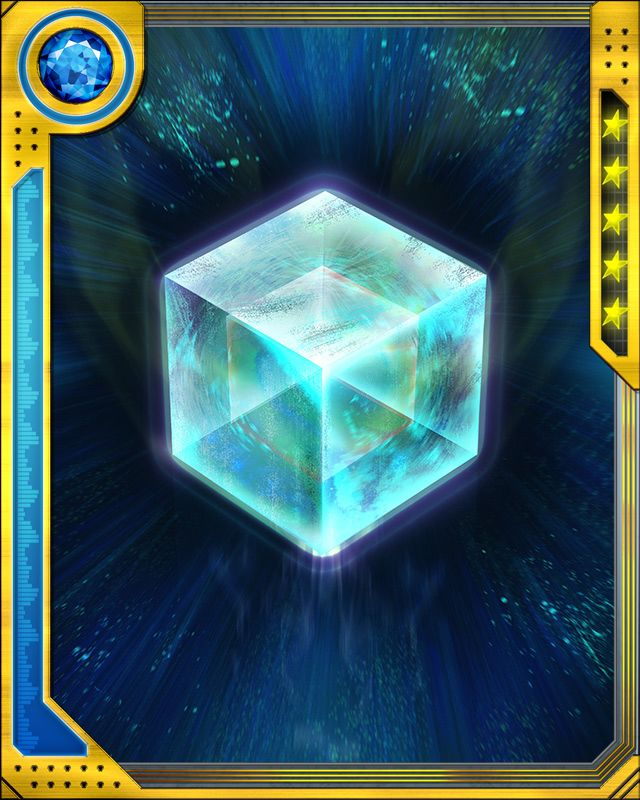 Fuse a SS Rare Tactics card with this Cosmic Cube to obtain the fused version of the base card. The resulting card has the same stats (including mastery) as a card obtained by fusing two identical versions of the base card.