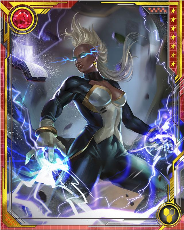 Storm wrestles with the consequences of her immense powers, and also her humble childhood. Though she's from a royal heritage, she grew up poor; and though she has incredible powers, she wants to help ordinary people. These conflicts drive her to always make the best use of what she has been given.