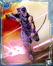 After the Thunderbolts broke free of Baron Helmut Zemo's control, Hawkeye assumed leadership of the team, training them as former teammate Captain America had once trained him.