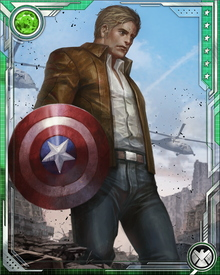 Steve Rogers received the shield of Captain America back from Bucky Barnes during the early days of the Siege of Asgard. He led the Avengers to Asgard's assistance, performing with notable valor despite the loss of Asgard to the Void.