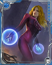 The new Fantastic Four—in new red-and-black costumes—took a leading role in the response to the final Incursion that threatened to destroy Earth. Sue Storm's force fields were instrumental in holding the life raft on which the Fantastic Four were evacuating the team, but in the end even she couldn't hold the ship together against the forces of oblivion.