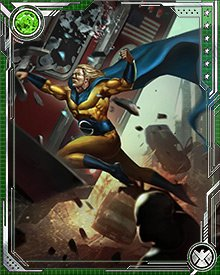 The origins of Sentry's powers are somewhat unclear. His body appears to be in molecular motion a fraction ahead of the time inhabited by the rest of the universe, creating an almost unlimited reservoir of potential energy. This is probably the result of a modified super soldier serum—but this serum may also have made Robert Reynolds' body the perfect vessel for a lifeforce from a different universe.