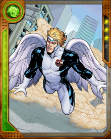 Angel's various traumas have destabilized his personality and briefly led him to believe he was an actual angel. He is now recovered, at least mostly, and after his post-Apocalypse metamorphosis he can create weapons of pure energy.