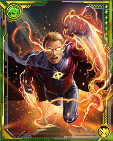 After he was appointed Protector of the Universe, Quasar had to make a decision about his obligation to the Avengers. The choice was made for him when he absorbed Ego the Living Planet into the Quantum Bands and was forced to exile himself into space to protect the Earth.