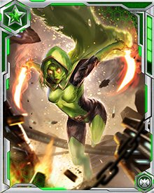 One of Gamora's specialties is facing down groups of armed adversaries all by herself. She likes a one-on-one battle just fine, but it's the long odds and the reckless blood rush she really loves.