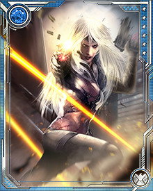 Proficient in a wide variety of weapons, Silver Sable prefers to go into the field with a saber and pistol—as well as any number of more devious battlefield devices that vary according to her interests of the moment.
