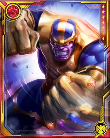 Thanos' desire for galactic domination included Earth. His attack on Earth was opposed by the Avengers and the Guardians of the Galaxy.