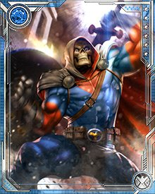 Proficient in just about every weapon ever wielded by a human being, Taskmaster nevertheless has a preference for the old-fashioned combination of sword and shield. His skills with them are enhanced, of course, by observations of Captain America, Silver Samurai, and Black Knight, among others.