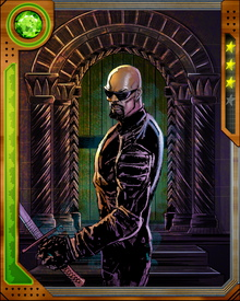 Blade happened to be in New York when Thanos' army invaded, led by the Cull Obsidian. He fought them in a Spider-Man suit he picked up at a costume shop, and became a member of the new Mighty Avengers after Thanos was defeated.
