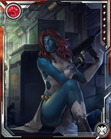 Mystique and Wolverine have a long-standing grudge against each other. She sent his soul to hell; he escaped and sought revenge. She was also a figurehead for Norman Osborn, assuming the guise of Professor X to convince the public that the X-Men accepted Osborn's rule. Wolverine killed her after his escape from hell, but the Hand resurrected her and enhanced her powers.
