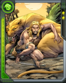 Ka-Zar fell in love with Shanna the She-Devil and they have since married and had a son, Matthew. But family love doesn't stop Ka-Zar from fighting to protect the Savage Land from those who would exploit it.