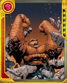 Ben Grimm used to be good at two things: fighting and playing football. Once he got out of the Yancy Street slums, his life took a different turn. He doesn't play football anymore, but he's never forgotten how to fight and he's never forgotten where he came from. No matter where he goes, the Thing takes a little bit of Yancy Street toughness and sarcasm with him. It helps him keep his edge.