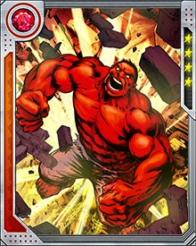 The only kind of energy Red Hulk cannot absorb is that of the Negative Zone. When he comes into contact with it, he suffers terrible pain and weakens rapidly.