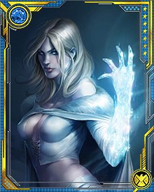 Emma's role with the X-Men isn't all behind the scenes, or limited to telepathic combat, either. When she's in her organic diamond form, she loses her psychic abilities, but gains the ability to stand toe-to-toe with some of the X-Men's strongest enemies.