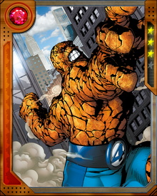When the Serpent called the hammers of the Worthy to Earth, Ben Grimm was transformed into Angrir, Breaker of Souls. He fought and defeated Red Hulk, destroying Avengers Tower, before falling to Thor. Franklin Richards saved his life.