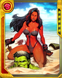One good thing about already being red? I don't sunburn anymore. Bring on the beach! (And let's see if Hulk has a sense of humor.)