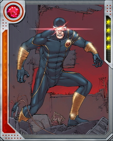 Cyclops' optic blasts are not generated from within his body; they are channeled from another dimension, using an autonomic psionic field that focuses and contains them while preventing them from damaging Cyclops himself.