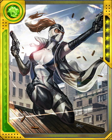 Created when E.V.A. (with a little help from Deadpool) mistakenly cloned an individual body for each part of Fantomex's triple brain, Lady Fantomex possesses similar skills and abilities to her genetic template... except she is perhaps a bit more mellow of temperament.