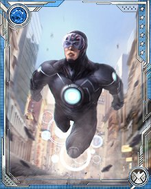 The discharge of Havok's powers is always accompanied by a characteristic pattern of concentric circles. These vary in wavelength and size depending on the form of the discharge and its intensity.