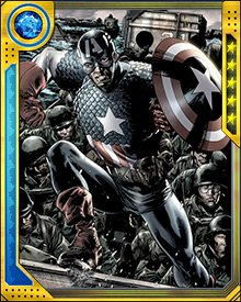 During the Serpent's attack on Earth, Bucky Barnes wore the uniform of Captain America. During a confrontation with Sin, Barnes was believed to be killed.