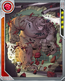The Rhino possesses superhuman speed that enables him to run at nearly 100 mph while ramming or charging.