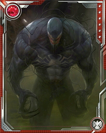 After ingesting a chemical given to him by Norman Osborn, Mac Gargan's Venom transforms into a more human appearance similar to the Black-Suited Spider-Man. Osborn introduces him as The Amazing Spider-Man, a member of the Dark Avengers, while unveiling the team.