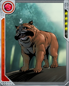 Lockjaw, when not watching over the rest of the Inhumans, occasionally partners with other groups—including the Pet Avengers, who sometimes complete missions their (meta) human owners cannot.