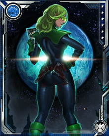 Abigail Brand is a human-alien hybrid in charge of S.W.O.R.D., a partner organization to S.H.I.E.L.D. with the specific responsibility of anticipating and defending against threats from space. S.W.O.R.D. operates out of an orbital base known as the Peak.