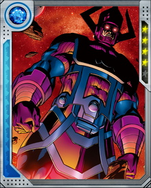 Galactus has found Earth a difficult target, since he has had to tangle with the Fantastic Four in his efforts to consume it. So far they have held him at bay, but he will try again.