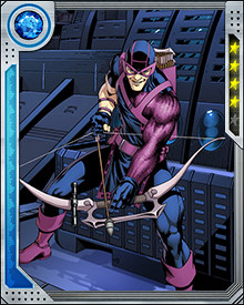 Hawkeye's specialized arrowheads can deliver explosive charges, sonic disruption, electrical shocks, and other forms of damage. He also typically carries arrows that can be used as grappling hooks or entangle enemies with adhesives.