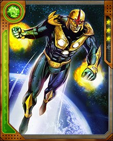 Richard Rider became the receptacle of the Nova Force and the Xandarian Worldmind when the Nova Corps and their world were destroyed. Good thing too, because without the Worldmind's help, the Nova Force would've overwhelmed the Earthling.