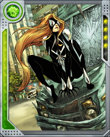 Injected with an array of serums as part of a secret government plan, Julia Carpenter originally called herself Spider-Woman. She fought in Battleworld and assumed a new name, Arachne, after returning to Earth. There she fought against the Avengers as a member of Freedom Force, before flipping and joining the Avengers' western team.