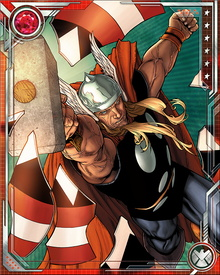 Ragnarok had powers that mimicked Thor's, and almost proved too much for the rebellious heroes to handle. He remains a mighty fighting force, but lacks Thor's moral compass—as the world discovered when Ragnarok became part of Norman Osborn's Dark Avengers.