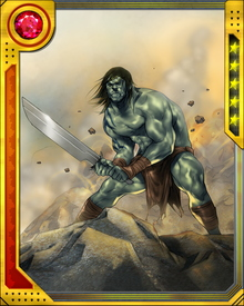 Skaar has taken on the responsibility of protecting a group of Sakaarian refugees settled in the Savage Land. He would settle in the Savage Land himself, it seems, if he were not called away so often.