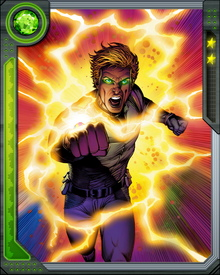 The Power Prism contains the consciousness of a Skrull known as Krimmon, imprisoned within the prism for attempting to usurp the Skrull Emperor. Once he recovered from the coma, caused by his initial contact with the Power Prism, Ledger joined the government-sponsored team of superhumans known as the Squadron Supreme.