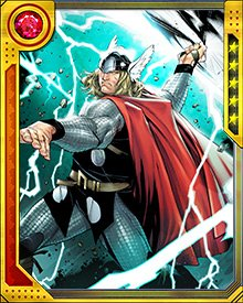 Using gargantuan force, Thor swings his hammer at massive speeds almost twice that of light. The Mjolnir's powers allow Thor to open passageways through space and time, deflect energy blasts and bend elements at will.