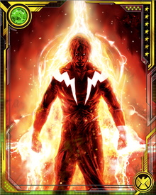 When wounded or exhausted, Adam Warlock can create a cocoon using manipulated cosmic energy. Those same energy fields are also the source of his quantum magic, which enables him to travel faster than light and create wormholes and folds in spacetime.
