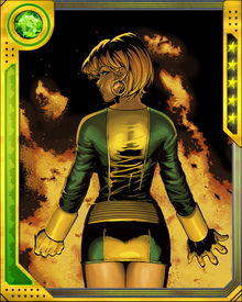 Rachel Summers was the daughter of Jean Grey and Scott Summers in an alternate timeline where the X-Men were unable to prevent the assassination of Senator Robert Kelly by the Brotherhood of Evil Mutants. She was brainwashed by the ruthless anti-mutant leader Ahab and turned into a Hound, using her psionic powers to hunt and capture other mutants.