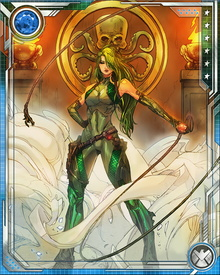 At one time Madame Hydra possessed the Serpent Crown, which gave her occult powers derived from the Egyptian god Set. Although she no longer has the Crown, some remnant of its powers might remain within her.