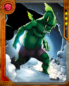 Even though he has the ability to transform himself into a human form, Fin Fang Foom finds himself an outcast in the world. Often in his dragon form he winds up fighting against heroes. In an attempt to get away from society he moves to Antarctica.