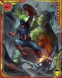 Captain America is a one-man army…but when he's got the unstoppable strength and ferocity of the Hulk with him, not even a million Ultrons can stand up to their combined might.