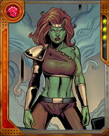 In an alternate future, a woman known as Lyra was created from the spliced DNA of Thundra and the Hulk. Trained as an elite warrior of her time's Sisterhood, she was then sent to our present to seek out its mightiest warrior and breed with him, since in her future all reproduction was technologically managed through Cradles, which were malfunctioning.