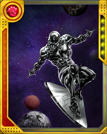 The Silver Surfer first appeared as a recurring character for the Fantastic Four who, as the Herald of Galactus, was sent to announce Earth's destruction. But he was convinced by Alicia Masters to save the planet from being destroyed.