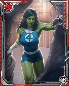 While with the Fantastic Four, She-Hulk had to prevent a crashed Helicarrier from leaking radiation from its reactor cores. While she was stopping the leak, she absorbed a huge dose of radiation that removed her ability to turn back into her normal Jennifer Walters form.